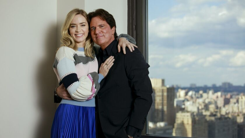 """Mary Poppins Returns"" star Emily Blunt and director Rob Marshall pose for a portrait in New York, N.Y., on Oct. 17, 2018."