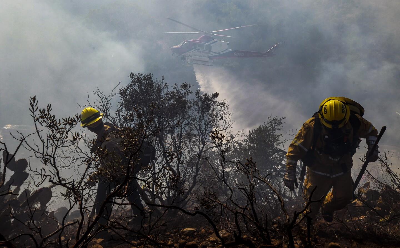 Brushfire in San Diego