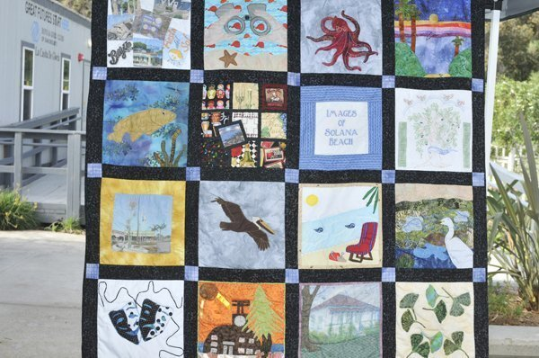 Quilt on display