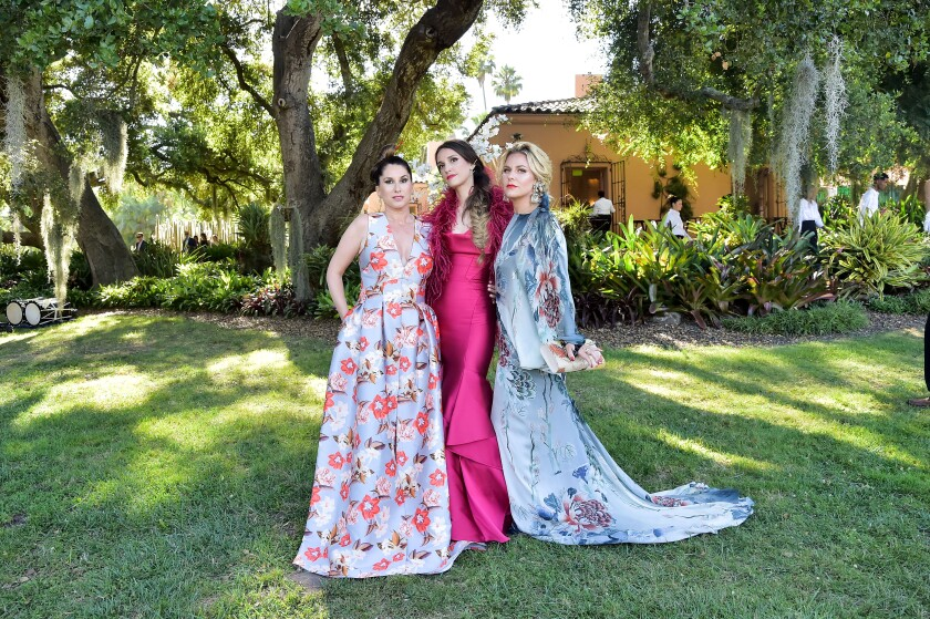 2019 Lotusland gala co-chairs Setenay Osman, from left, Nati Smith and Belle Hahn.