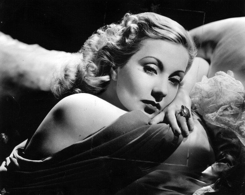 "Ann Sothern in a glamour photo to promote the 1940 movie ""Brother Orchid."""