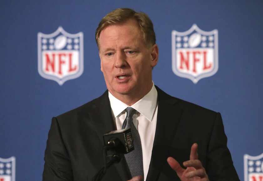 NFL Commissioner Roger Goodell will be announcing draft picks from his home in New York.