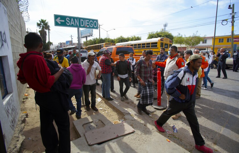 Hundreds of Central Americans arrive in Tijuana, more on way - The
