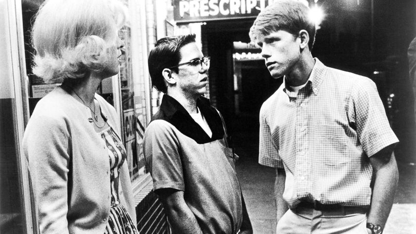 "Candy Clark, left, Charles Martin Smith and Ron Howard in a scene from the 1973 film ""American Graffiti."""