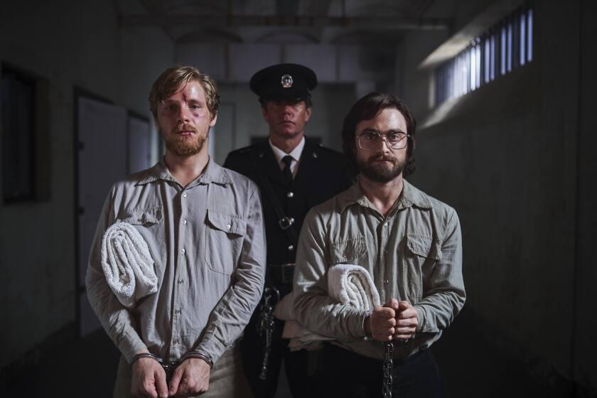 Daniel Webber, left, and Daniel Radcliffe in the movie 'Escape From Pretoria'