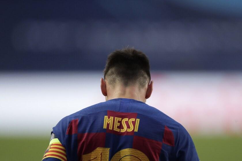 El argentino Lionel Messi, del Barcelona