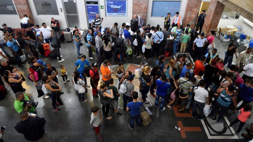 Foto de archivo de inmigrantes cubanos en camino hacia Estados Unidos.
