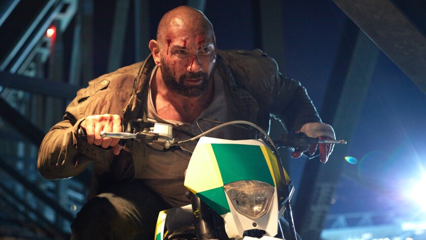 """Dave Bautista as Michael Knox in the action film """"FINAL SCORE,"""" a Saban Films rele"""