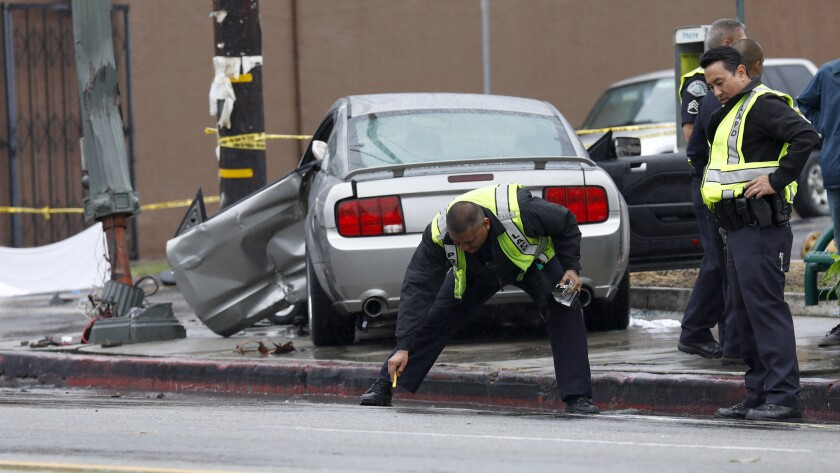 A crash in Echo Park killed two women and injured two others.