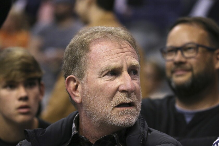 American team owners such as Robert Sarver, who also co-owns Spanish pro soccer team Mallorca, are valued in Europe for their money and their sports marketing knowledge. Above: Sarver at a recent Phoenix Suns game.