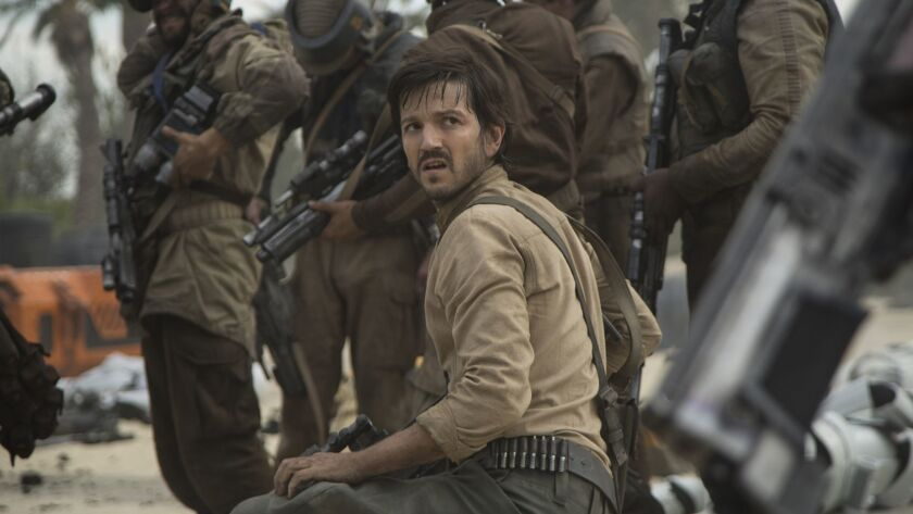 """Diego Luna as Cassian Andor in """"Rogue One: A Star Wars Story."""" Credit: Jonathan Olley / Lucasfilm"""