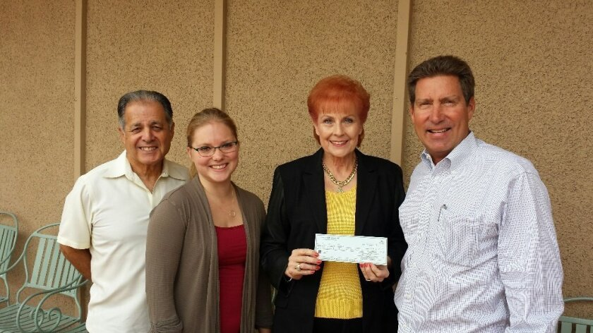 L-R: Don Diego Scholarship Foundation Vice Chairman Jon Liss, board member Alysha Stehly, board member/Charity Horse Show President Susan Farrior, Chairman Paul Ecke III. Courtesy photo