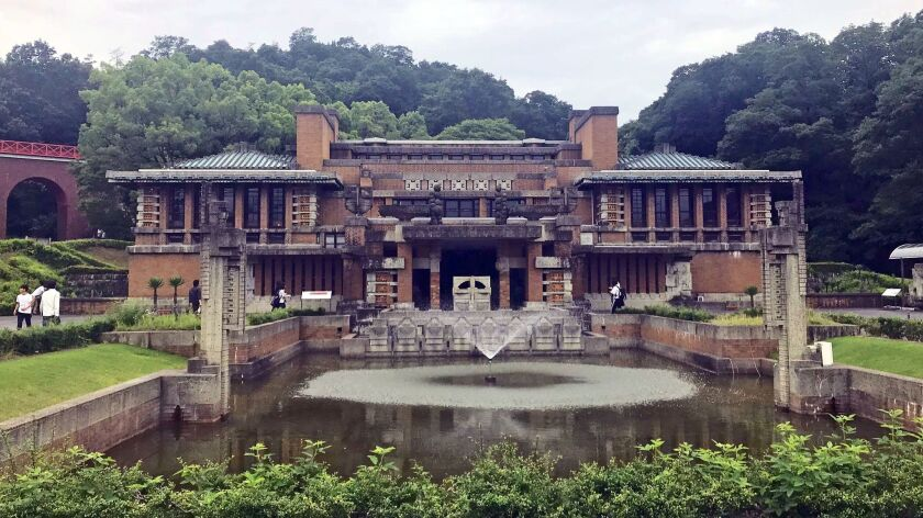 Meiji-mura in Inuyama preserves historic buildings from Japan's history including the main lobby of the Imperial Hotel designed by Frank Lloyd Wright.