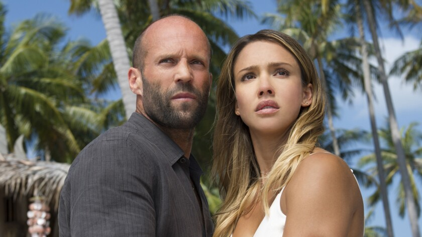 "Jason Statham and Jessica Alba appear in a scene from ""Mechanic: Resurrection."""