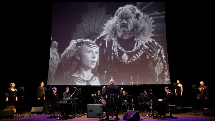 """LOS ANGELES, CA. OCT. 28, 2017. LA Opera presents Jean Cocteau's 1946 cinematic masterpiece """"La"""