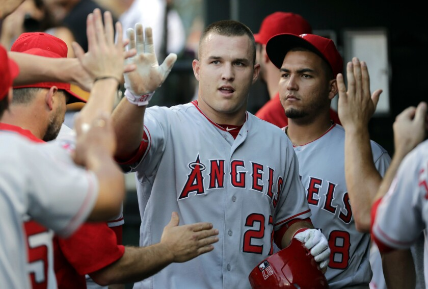 Mike Trout is tough to get out even when he's down, 0-2