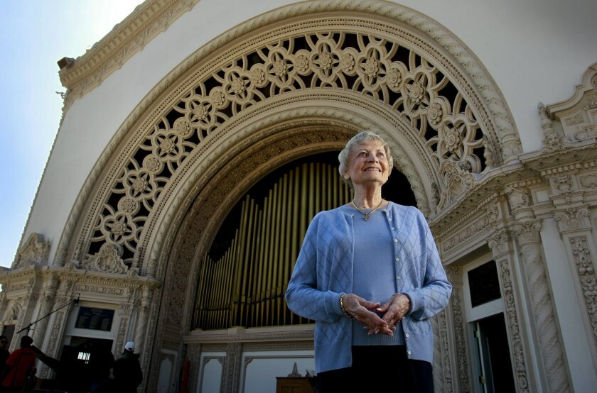 Cindy Peterson has been organizing the annual Easter Sunrise service in Balboa Park  since it began 30-years-ago and is preparing for Sunday's service at the Spreckels Organ Pavilion.