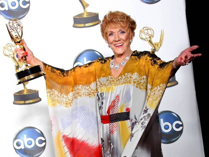 """Jeanne Cooper won an Emmy in 2008 for best actress in a drama series. She played grande dame Katherine Chancellor for nearly four decades on the CBS soap opera """"The Young and the Restless."""""""
