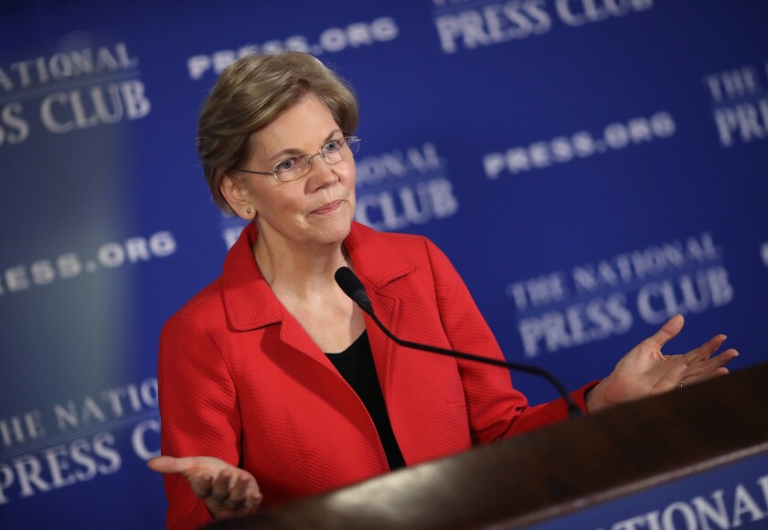 "Sen. Elizabeth Warren warned President Trump about his ""racist rants."""