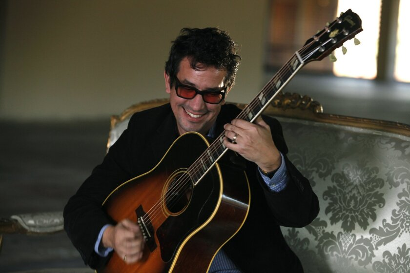 """Singer / songwriter A.J. Croce sings his new release, """"A Momentary Lapse of Judgement"""" on the 4th floor of the UT building in Mission Valley. David Brooks / U-T San Diego Mandatory Photo Credit; DAVID BROOKS / UTSANDIEGO Zuma Press copyright 2013"""