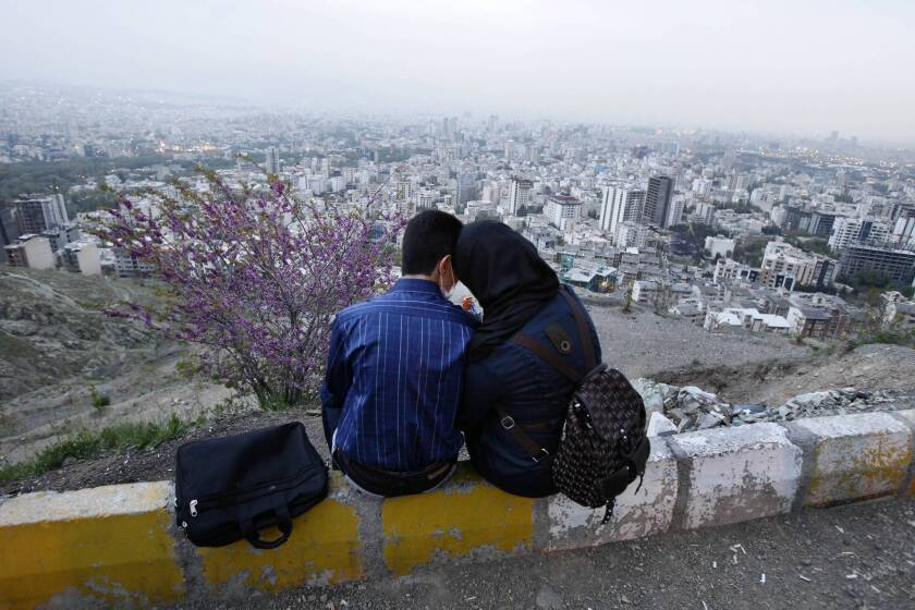 A couple in Tehran. The government, seeking to increase marriage and birth rates, offers incentives to couples who choose to have larger families, including low mortgage rates and generous maternity leave for working mothers.