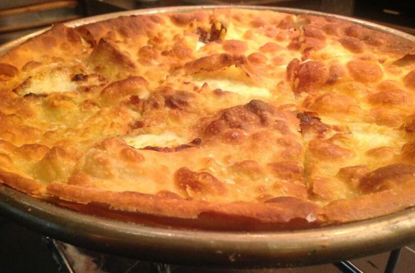 Nancy Silverton makes a cheese-filled <i>Focaccia di Recco</i> for Chi Spacca diners