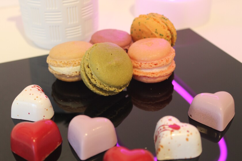 Le Macaron in One Paseo specializes in French macarons, gelato and chocolates.