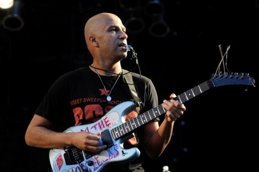 Tom Morello performs at Cricket Wireless Amphitheater in Chula Vista.