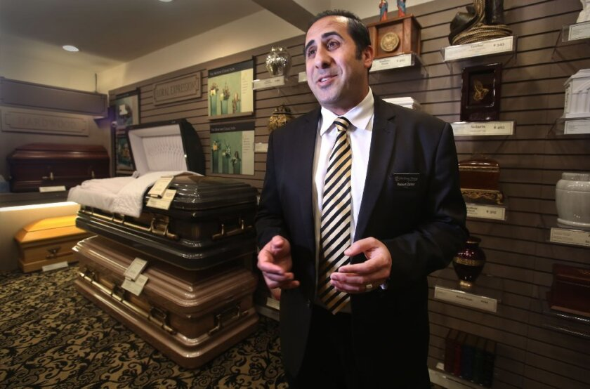Robert Zakar, owner of East County Mortuary & Cremation Service, plans to ask the El Cajon City Council to allow him to open a crematorium in the city.