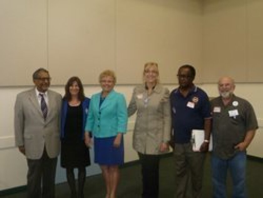 Local delegates to the 2012 Democratic National Convention include: K. Thomas Bose, Carol Waldman, Francine Busby, Maureen Sweeney, Willie Little, Michael Gelfand. Not pictured: Kyle Krahe.