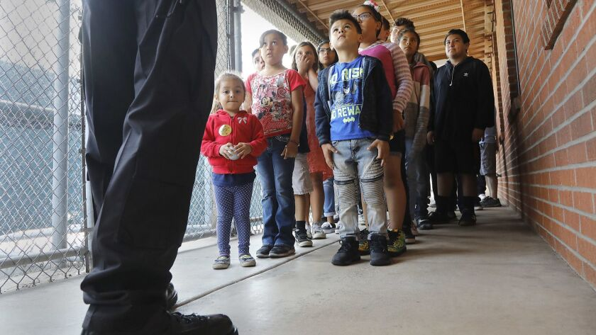 Families line up during the tours of San Diego's Juvenile Hall Sep. 29