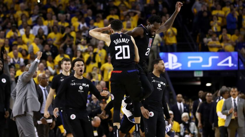 the best attitude 8f9e2 beb99 Clippers' Landry Shamet caps a shocking comeback with a ...