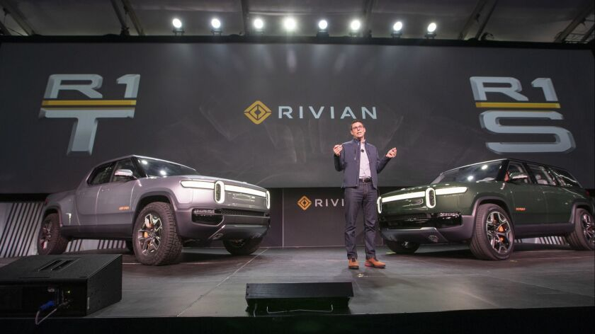 LOS ANGELES, CALIF. -- TUESDAY, NOVEMBER 27, 2018: RJ Scaringe, founder and CEO of Rivian talks dur