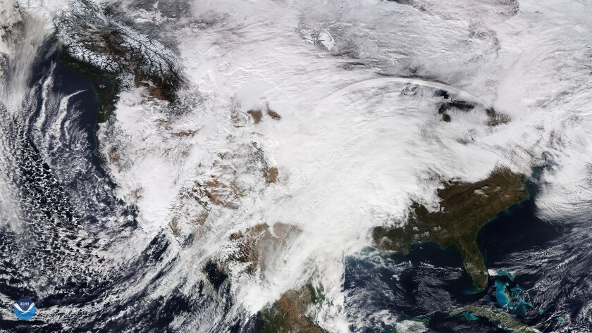 Severe weather for the Western United States transitions to precipitation in the East, USA - 28 Nov 2019