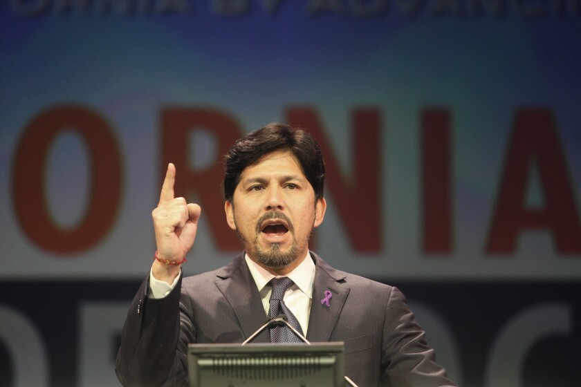 Sen. Kevin De Leon (D-Los Angeles) was approved by the Democratic Caucus on Wednesday as the next California Senate leader.