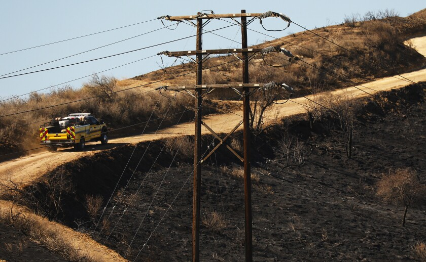 The Easy fire is believed to have started Thursday near Easy Street in Simi Valley.