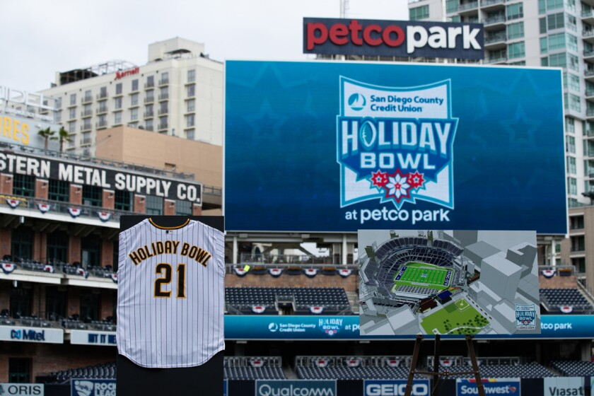 The Holiday Bowl will move downtown to Petco Park, beginning with the 2021 game that matches Pac-12 and ACC teams.