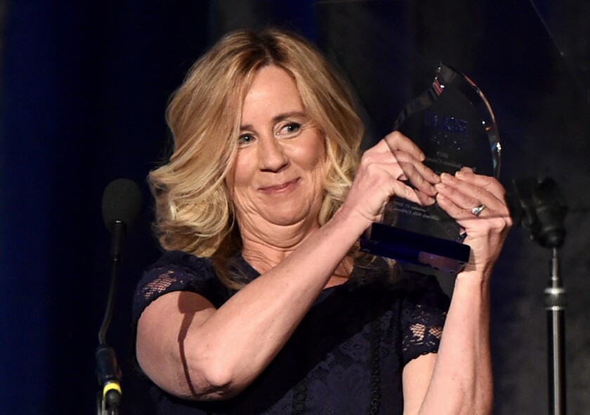 Christine Blasey Ford accepts an ACLU of Southern California courage award.