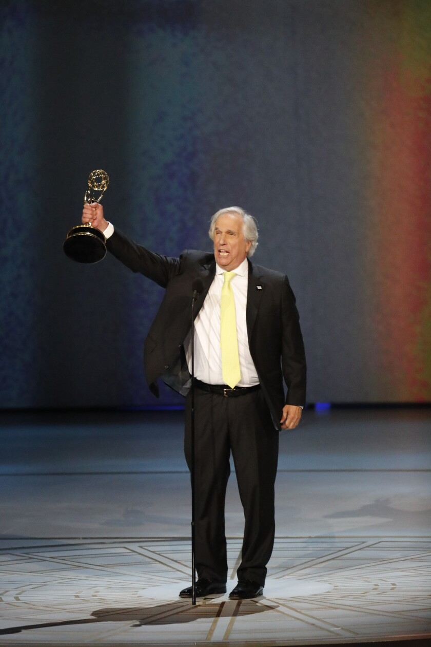 LOS ANGELES, CA., September 17, 2018: ?Henry Winkler onstage after winning for Outstanding Supportin