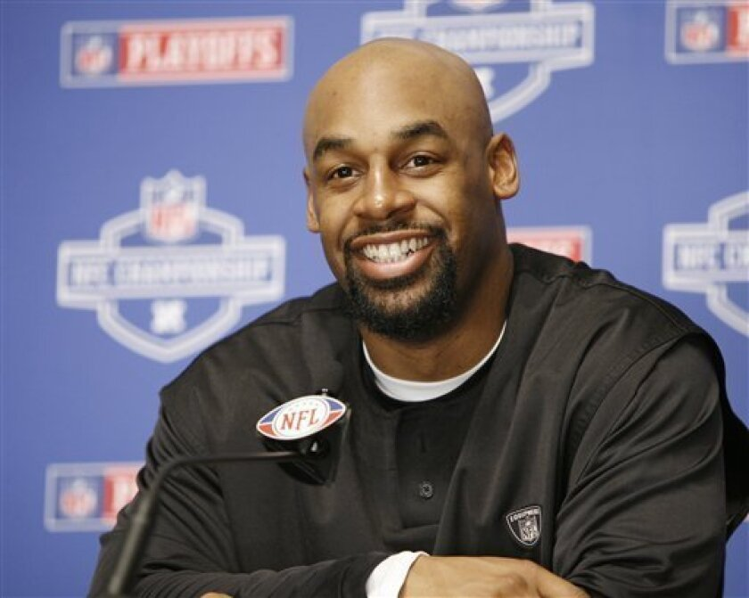 Philadelphia Eagles quarterback Donovan McNabb  smiles during a press conference in Philadelphia Friday, Jan. 16, 2009. The Eagles will face the Arizona Cardinals in Phoenix on Sunday for the NFC championship football game. (AP Photo/Mark Stehle)