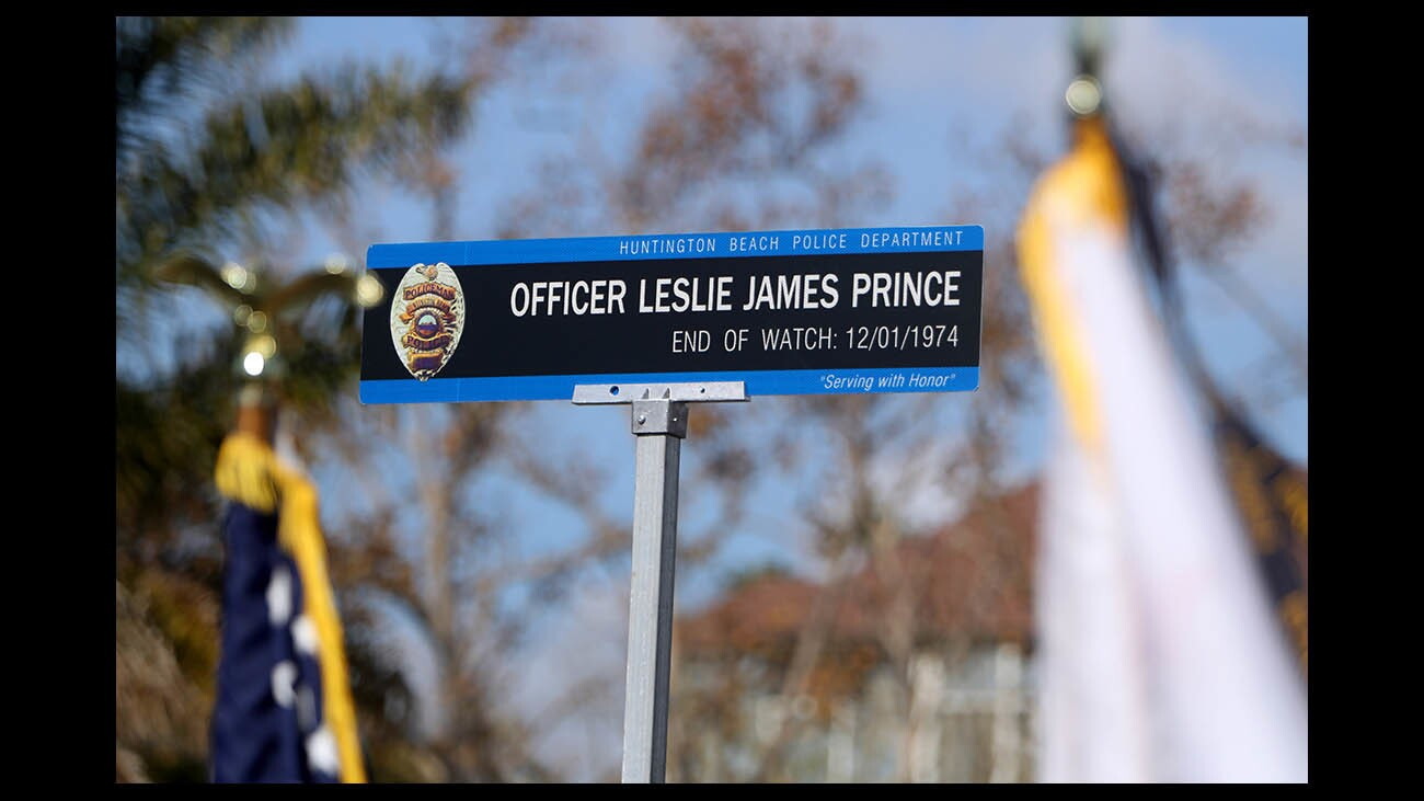 Photo Gallery: Street sign honoring fallen officer Leslie James Prince unveiled on Adams Ave.