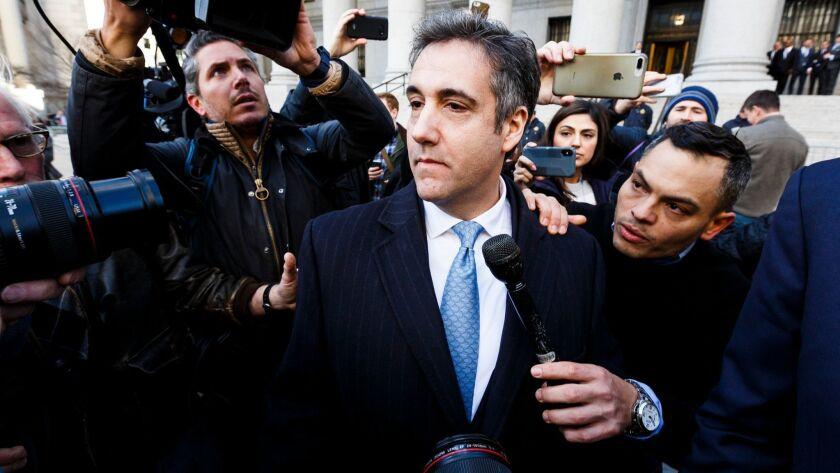 Michael Cohen leaves Federal Court, New York, USA - 29 Nov 2018