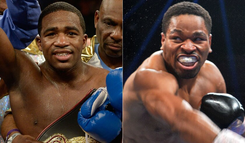 Former world champions Adrien Broner, left, and Shawn Porter will face off June 20 in a welterweight showdown at MGM Grand in Las Vegas.