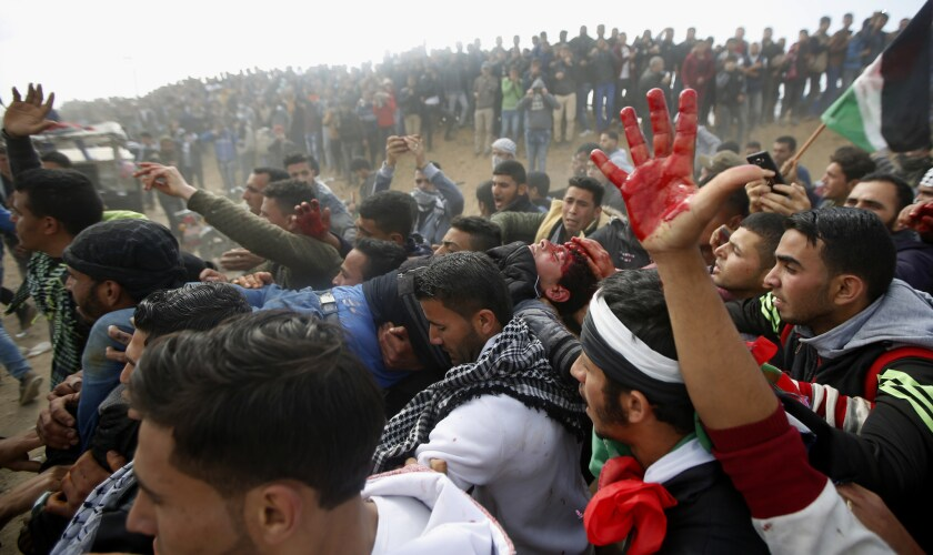 Protests, violent clashes in Gaza