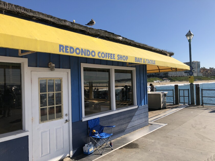 You can also rent a rod and buy bait at the Redondo Coffee Shop.