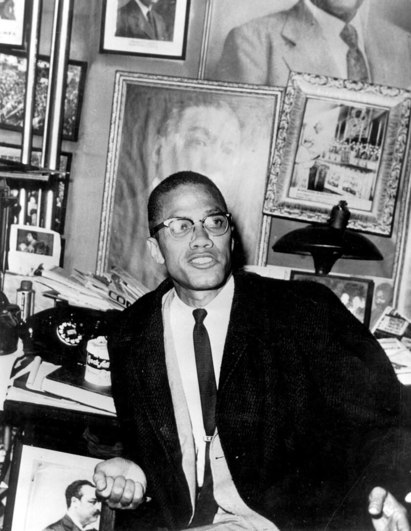 Malcom X, lider del movimiento de los Musulmanes Negros.