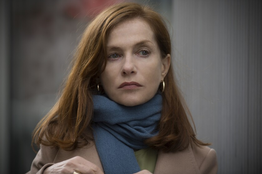 "Isabelle Huppert as Michèle in ""Elle."""
