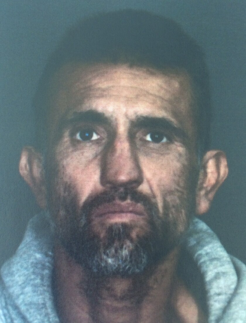 Riverside County authorities are seeking Efren Rodriguez Martinez, 53, who is accused of felony animal cruelty for allegedly beating a dog with a shovel. The dog later died.