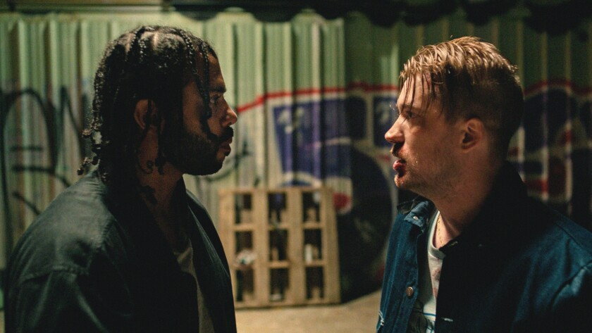 Daveed Diggs and Rafael Casal appea in <i>Blindspotting</i> by Carlos López Estrada, an official se