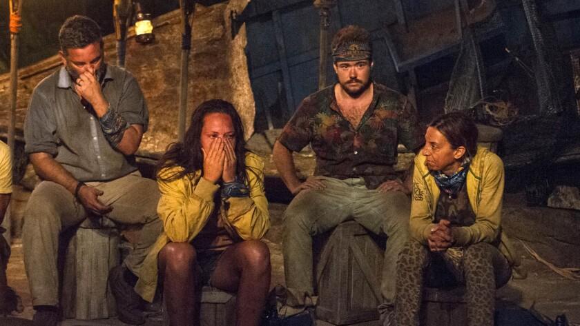 """Survivor: Game Changers"" contestants, from left: Jeff Varner, Sarah Lacina, Zeke Smith and Debbie Wanner."